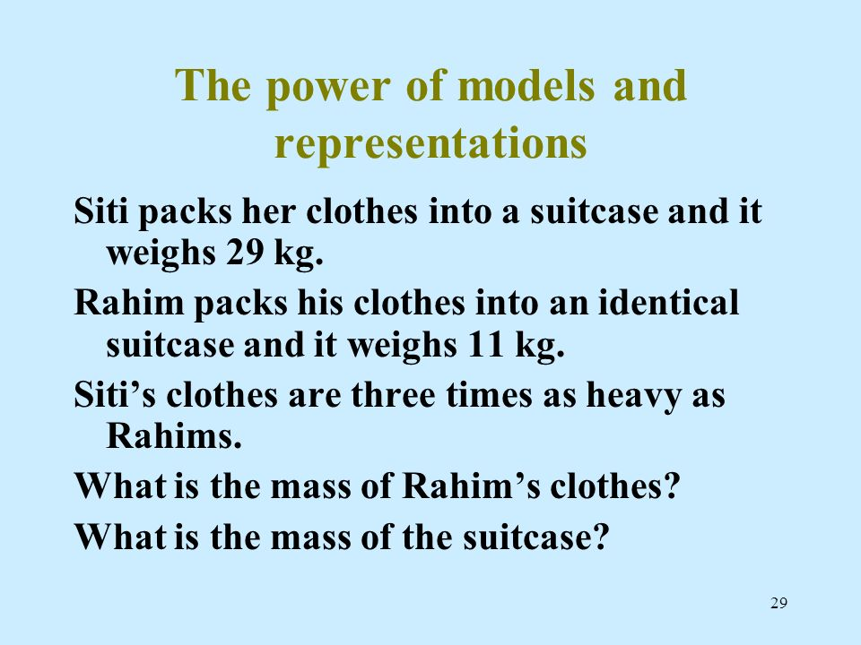 The power of models and representations