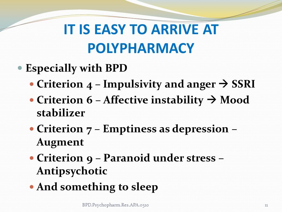 IT IS EASY TO ARRIVE AT POLYPHARMACY