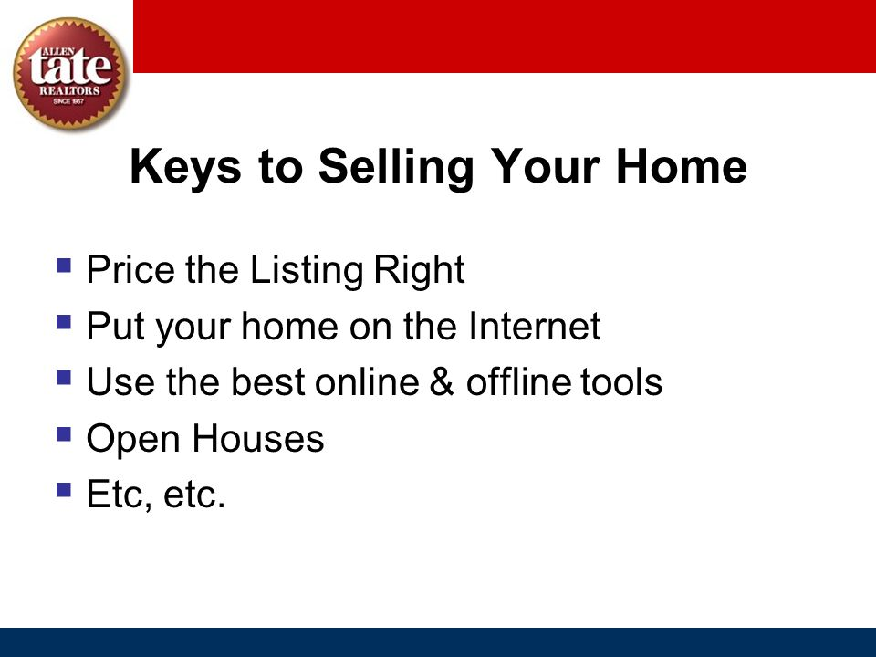 Keys to Selling Your Home