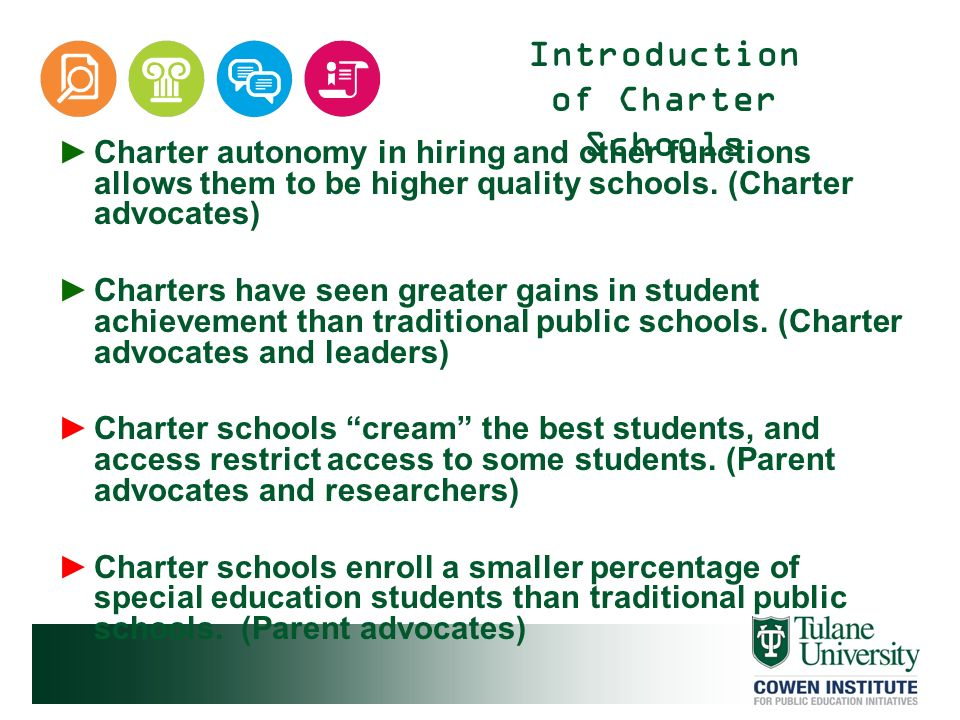 Introduction of Charter Schools