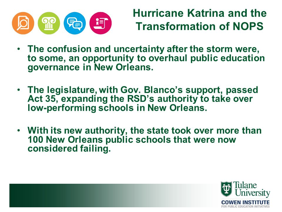 Hurricane Katrina and the Transformation of NOPS