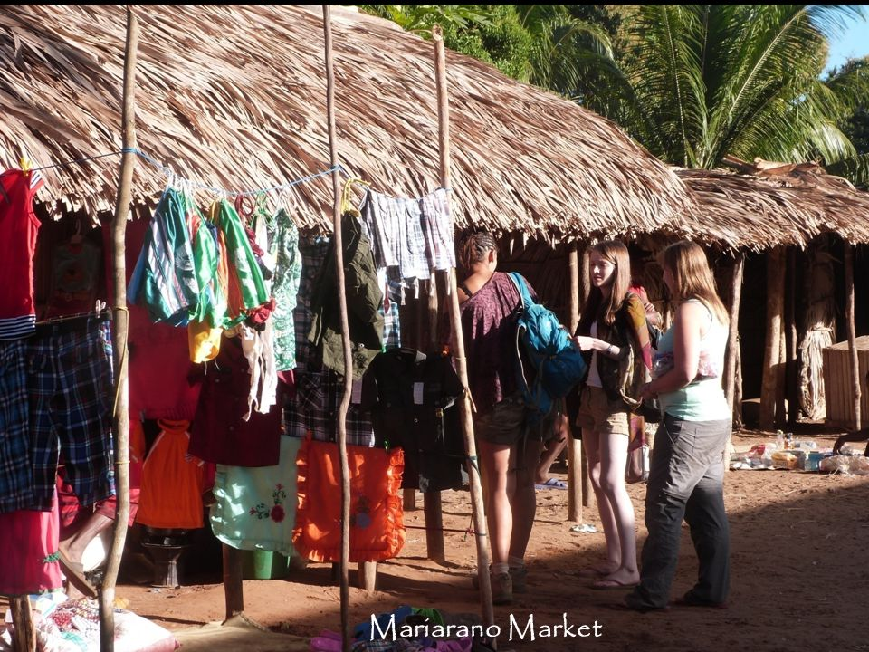 Mariarano holds a weekly market when people from the outlying areas come to the village.