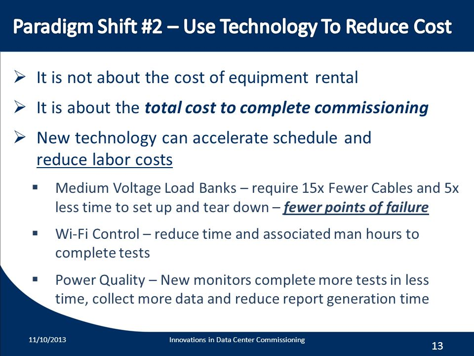 Paradigm Shift #2 – Use Technology To Reduce Cost