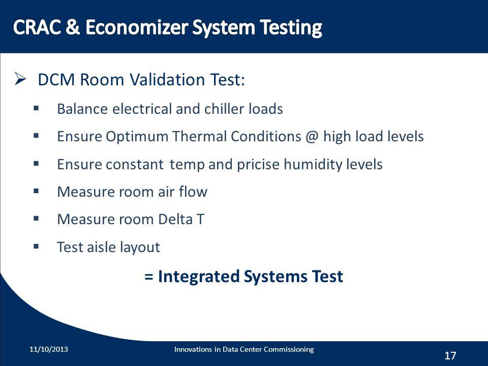 CRAC & Economizer System Testing