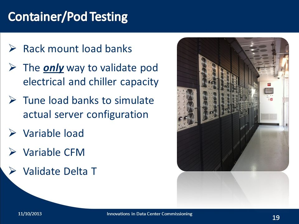 Container/Pod Testing