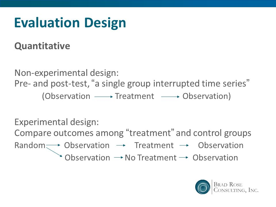 Evaluation Design Quantitative