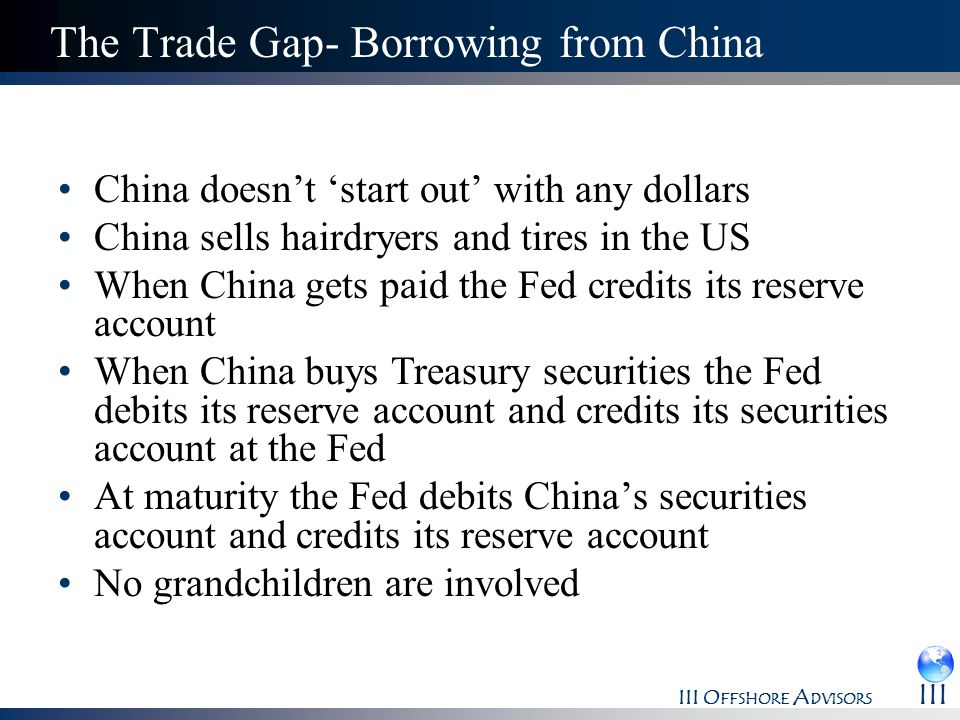The Trade Gap- Borrowing from China