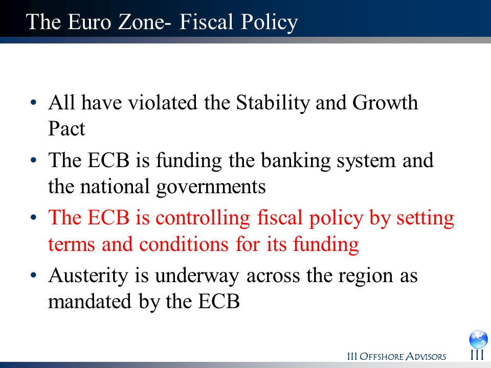 The Euro Zone- Fiscal Policy