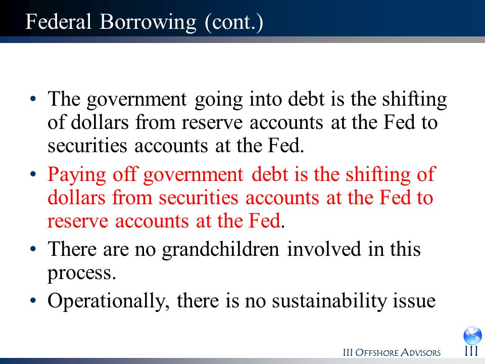 Federal Borrowing (cont.)