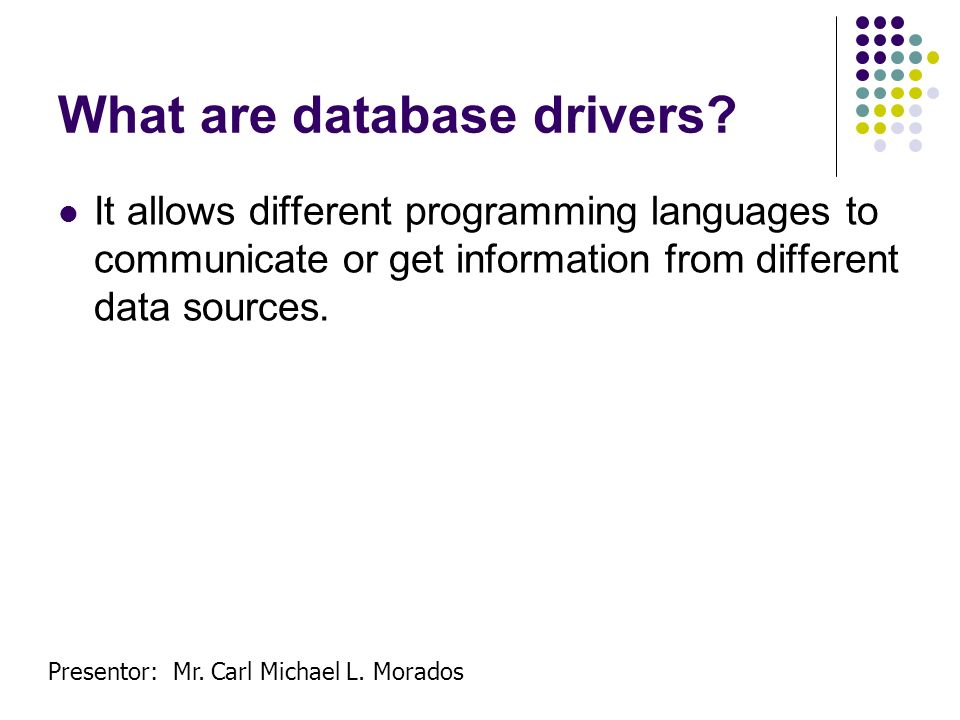 What are database drivers