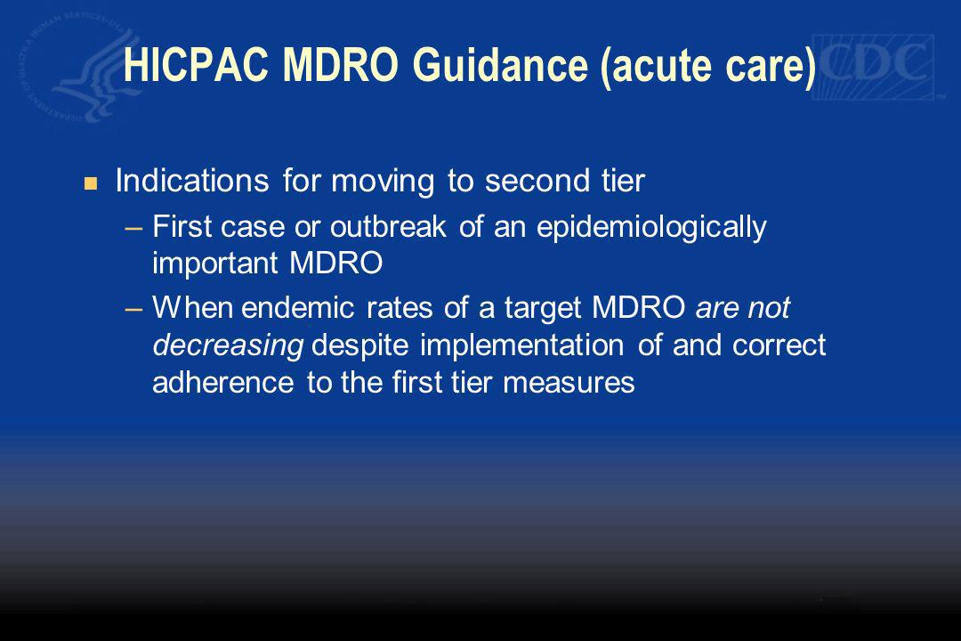 HICPAC MDRO Guidance (acute care)