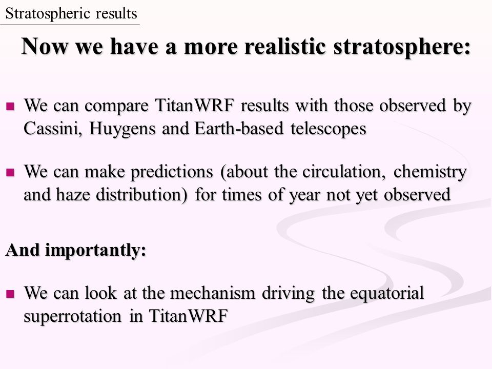 Now we have a more realistic stratosphere: