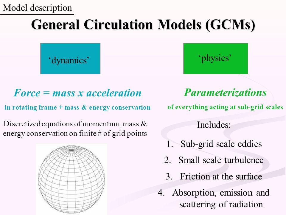 General Circulation Models (GCMs)