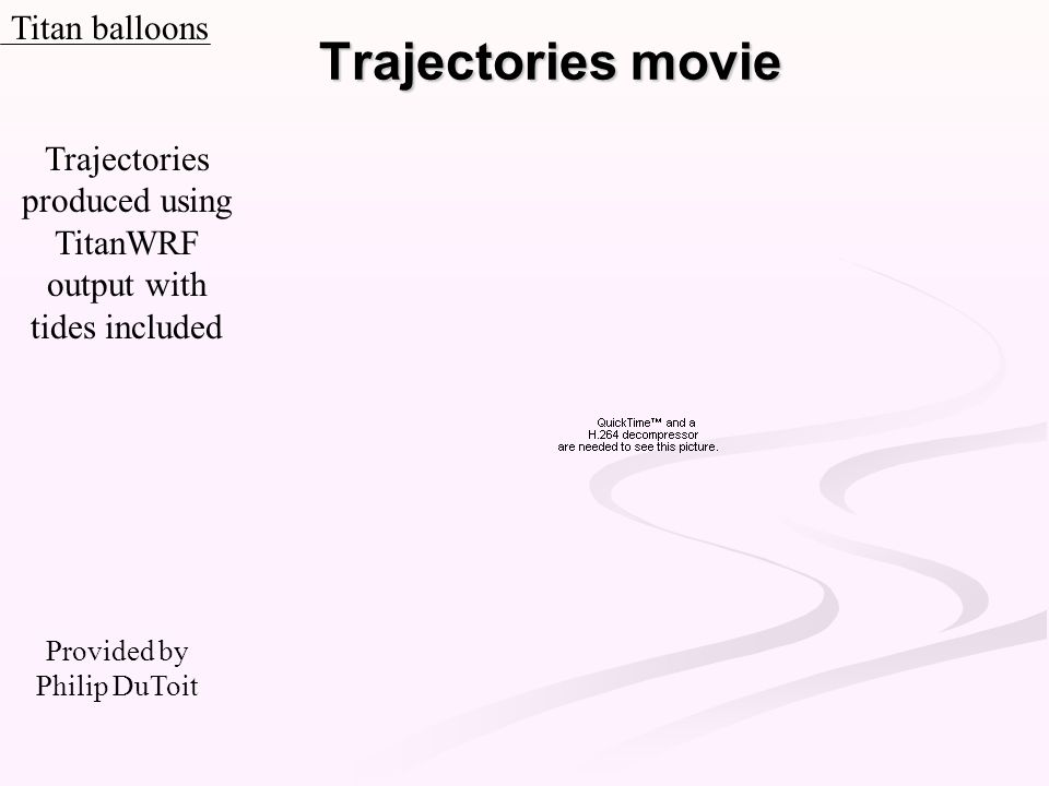 Trajectories movie Titan balloons