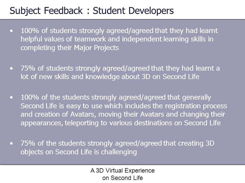 Subject Feedback : Student Developers