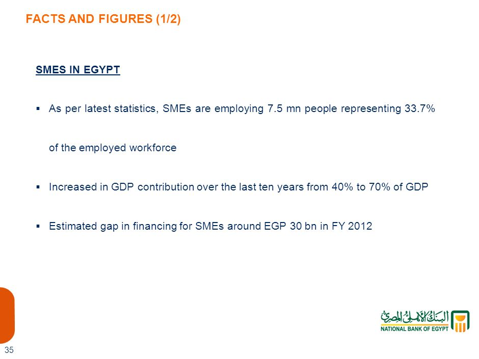 FACTS AND FIGURES (1/2) SMES IN EGYPT
