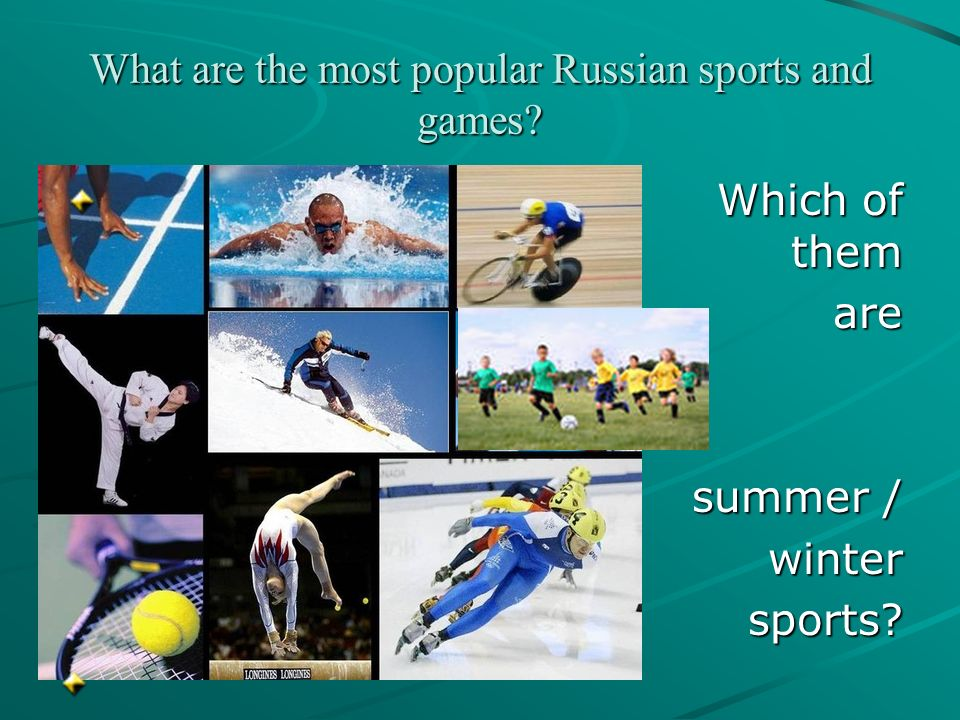What are the most popular Russian sports and games