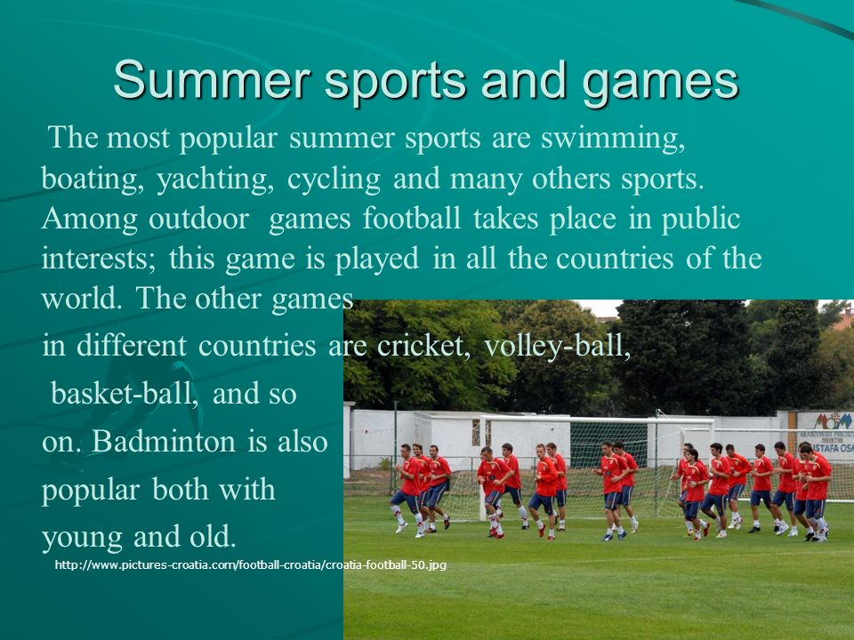 Summer sports and games