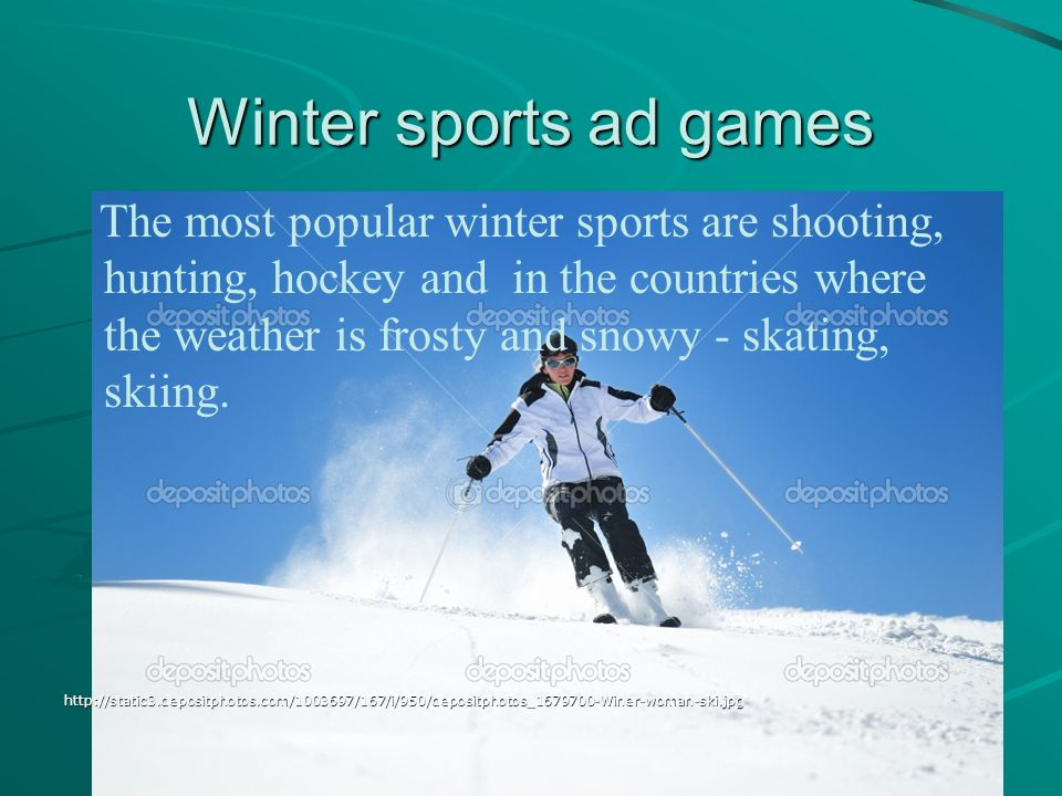 Winter sports ad games