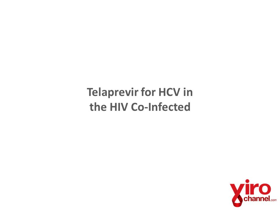 Telaprevir for HCV in the HIV Co-Infected