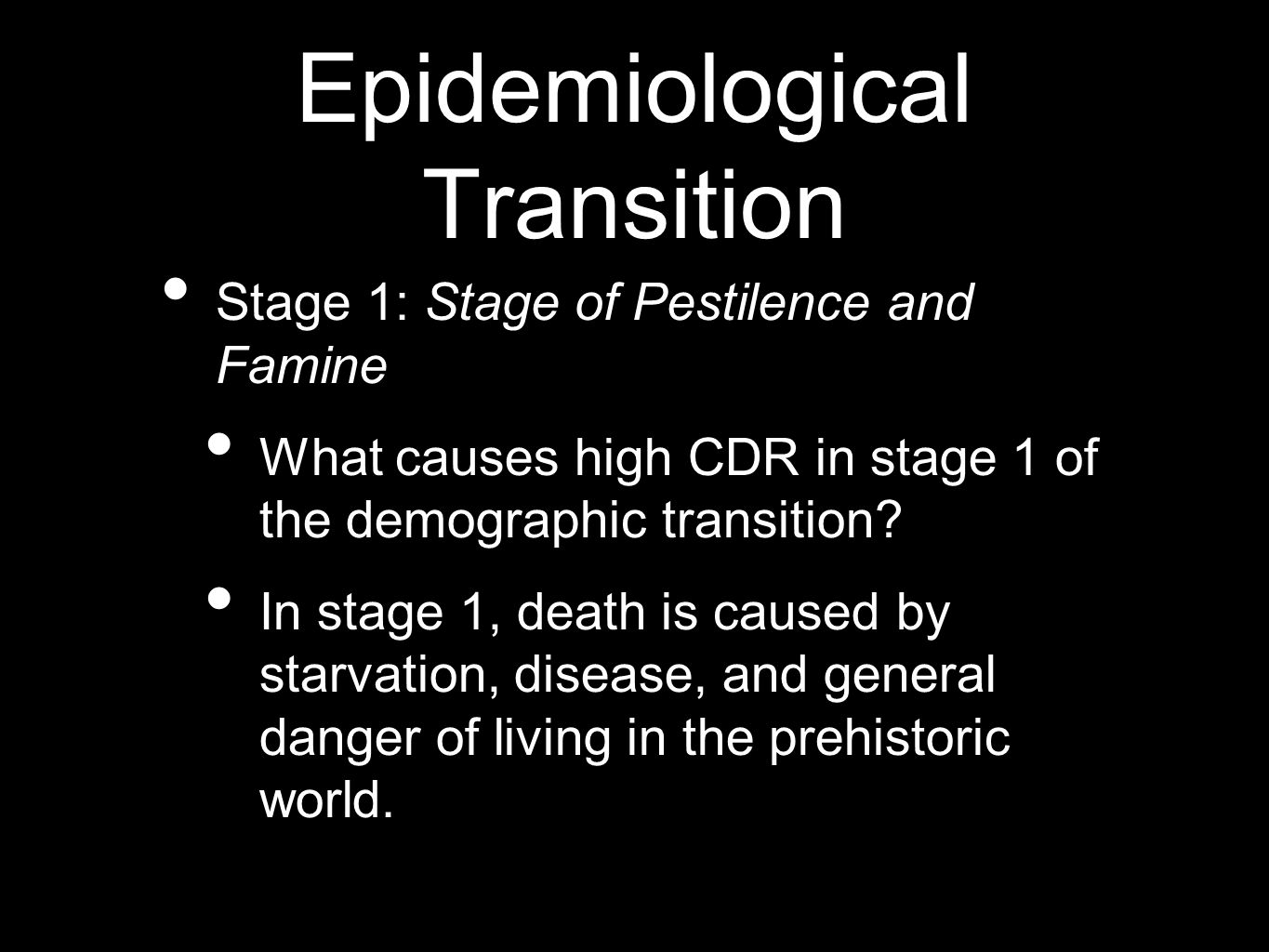 Epidemiological Transition