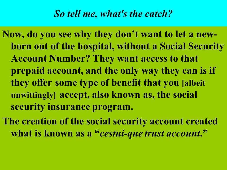 So tell me, what s the catch