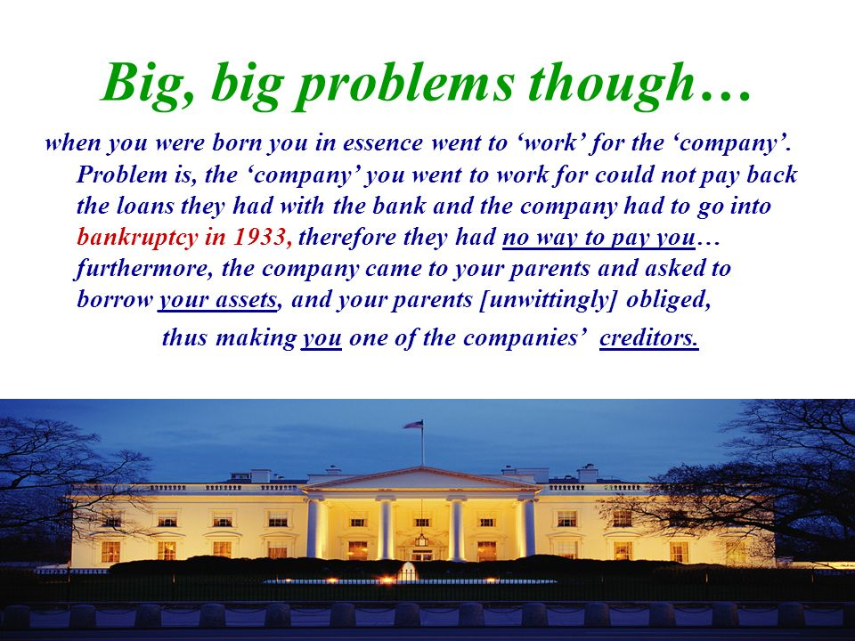 Big, big problems though…