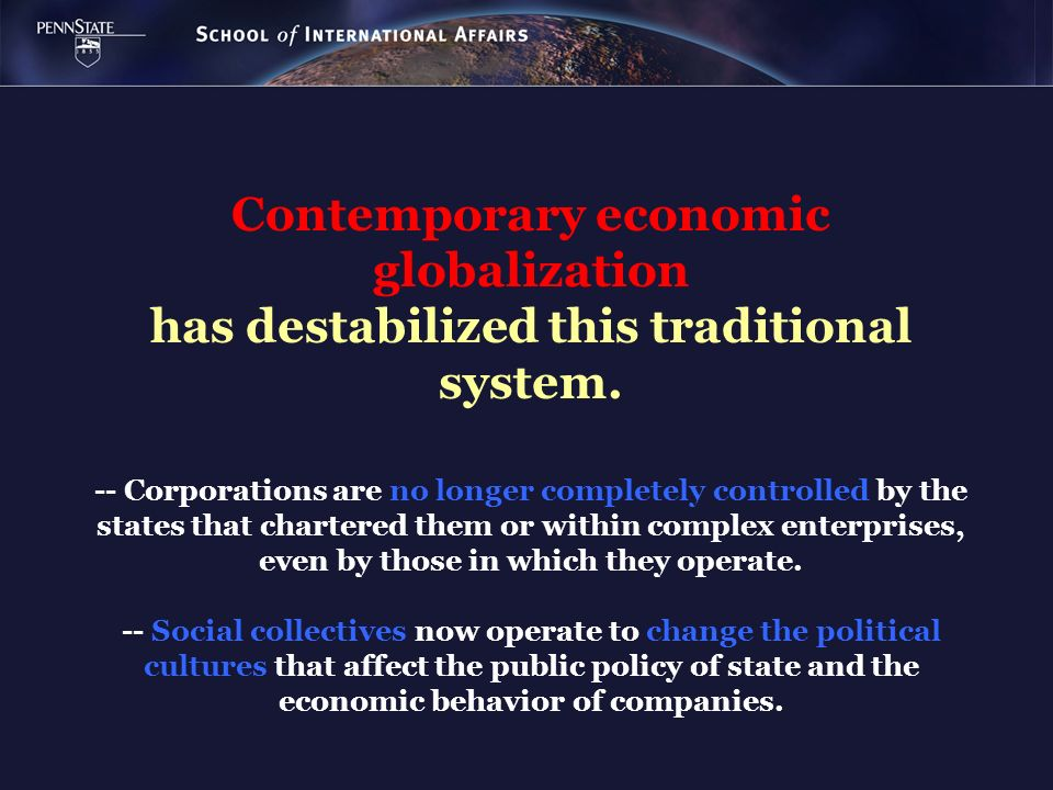 Contemporary economic globalization