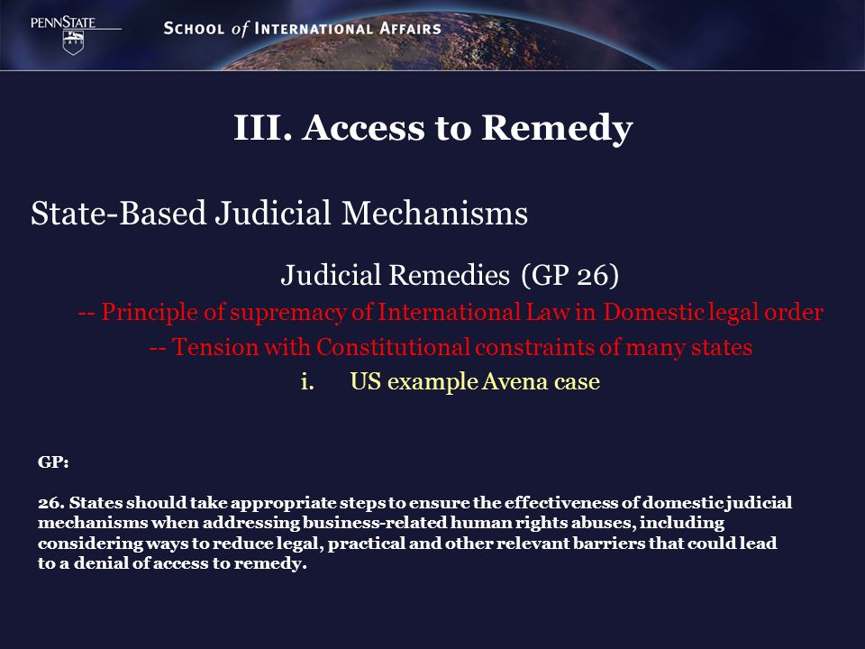 State-Based Judicial Mechanisms
