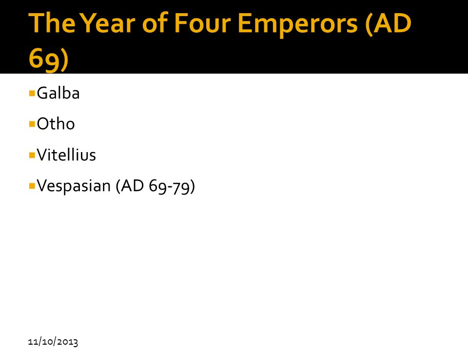 The Year of Four Emperors (AD 69)