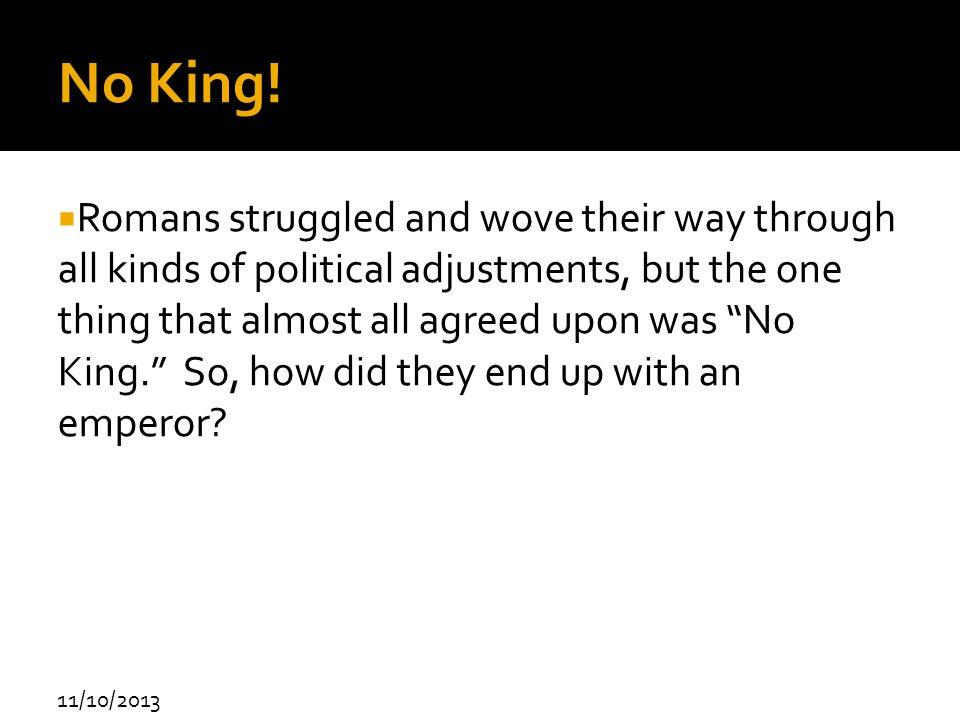 No King!