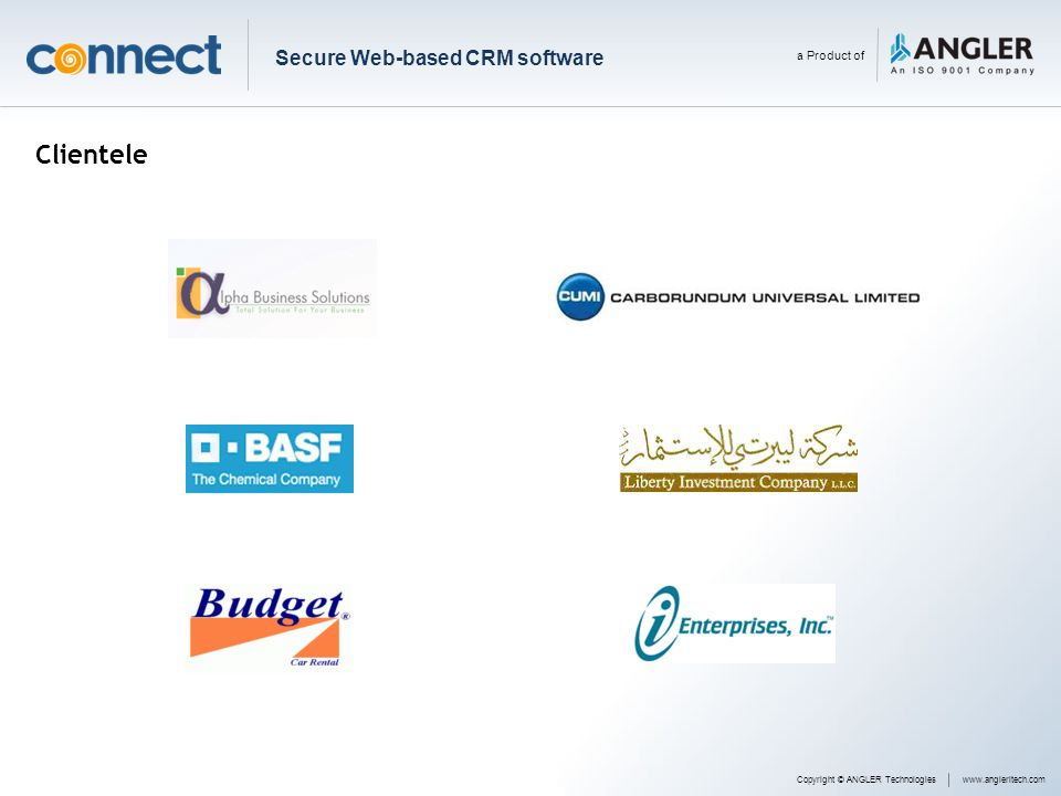 Clientele Secure Web-based CRM software a Product of