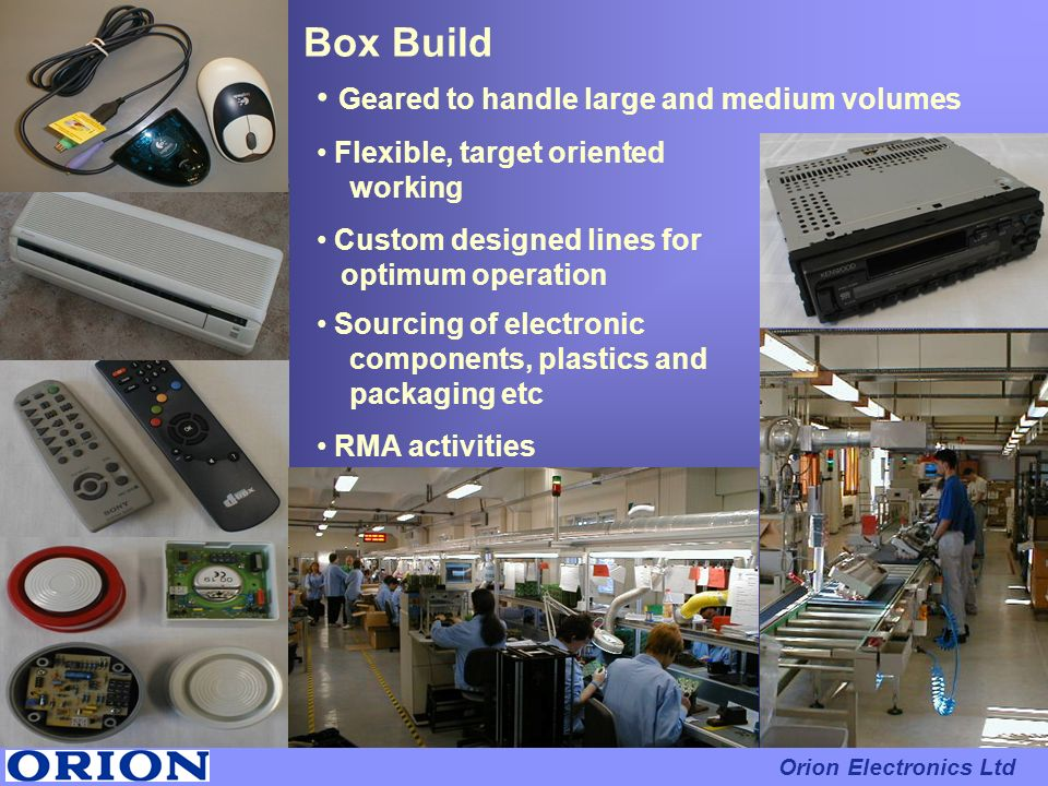 Box Build Geared to handle large and medium volumes
