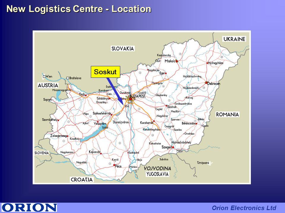 New Logistics Centre - Location