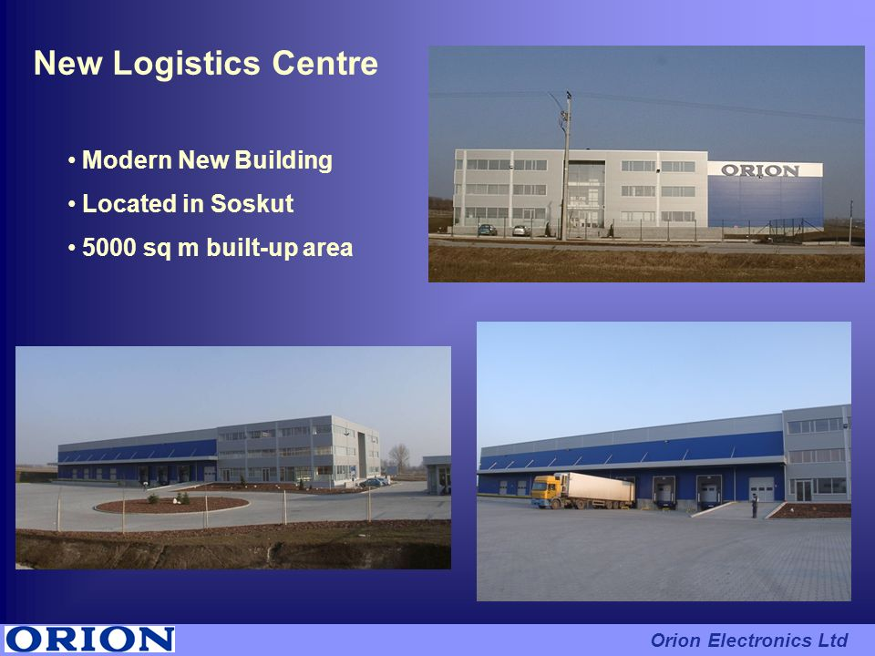 New Logistics Centre Modern New Building Located in Soskut