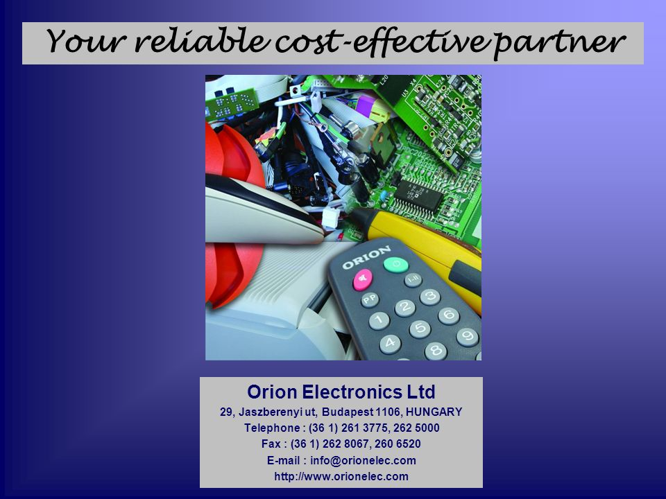 Your reliable cost-effective partner
