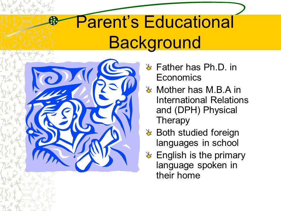 Parent's Educational Background
