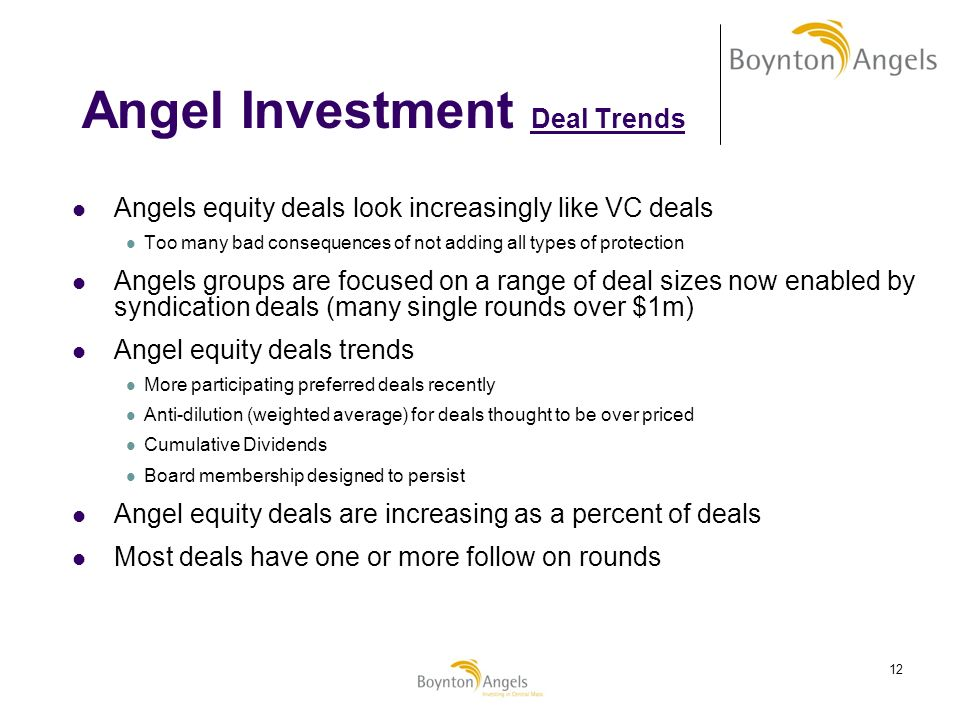 Angel Investment Deal Trends