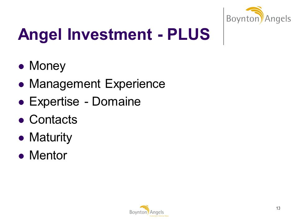 Angel Investment - PLUS
