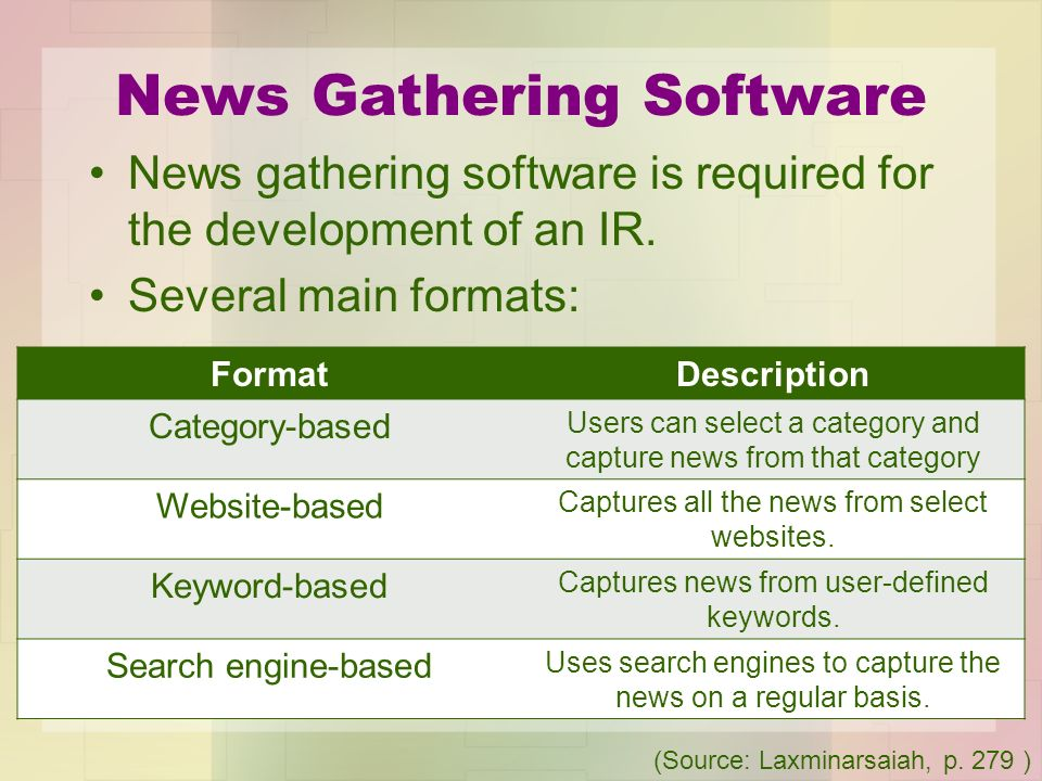 News Gathering Software