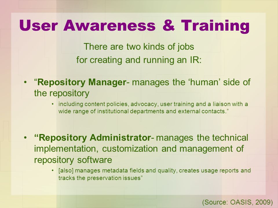 User Awareness & Training