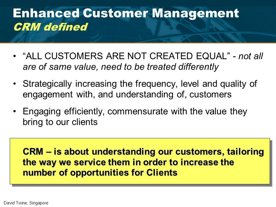 Enhanced Customer Management CRM defined