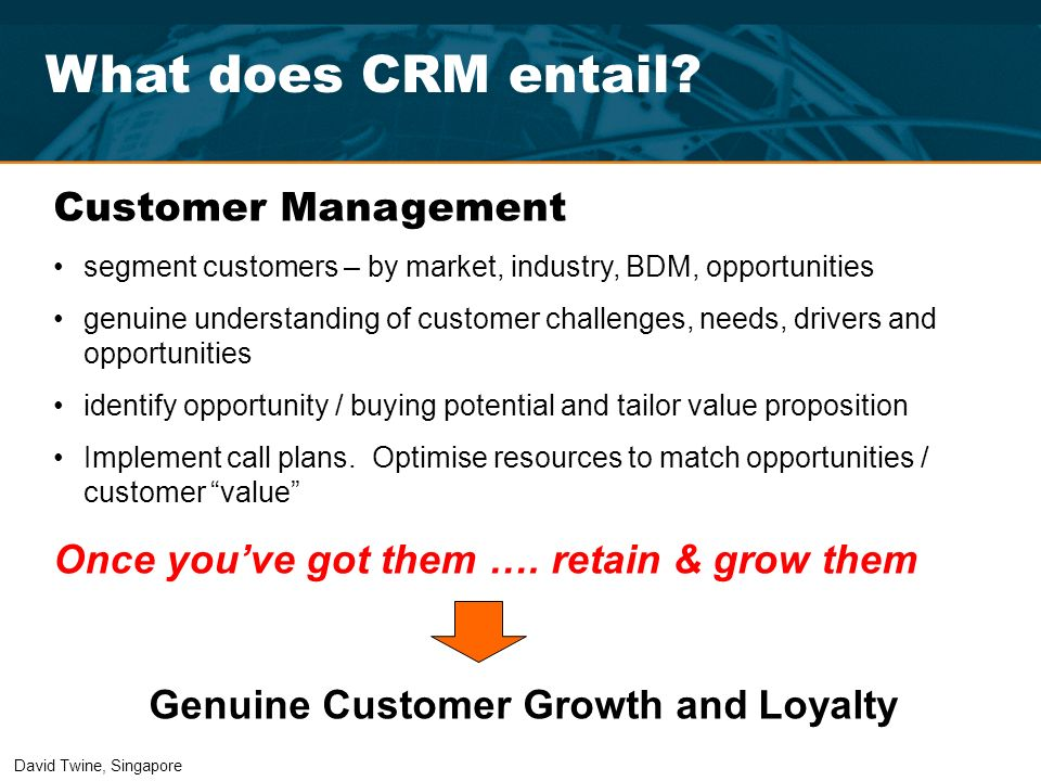 Genuine Customer Growth and Loyalty