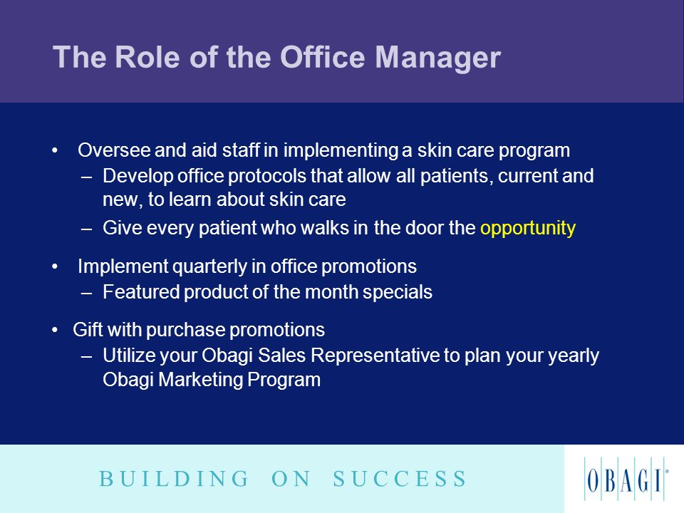 The Role of the Office Manager