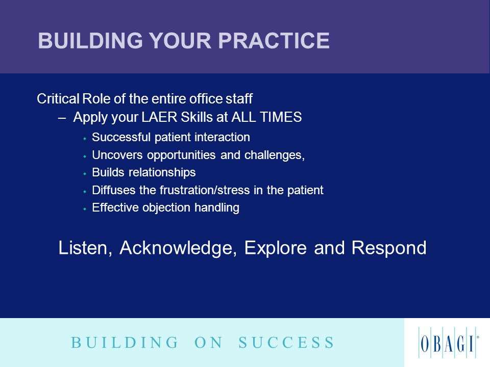 BUILDING YOUR PRACTICE