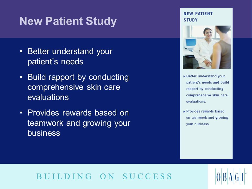 New Patient Study Better understand your patient's needs