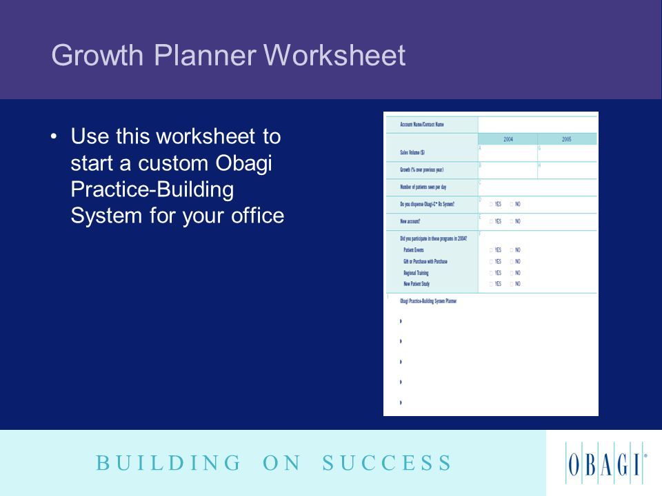 Growth Planner Worksheet