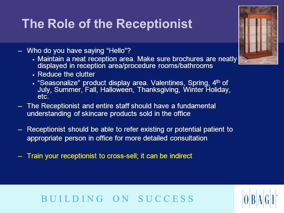 The Role of the Receptionist