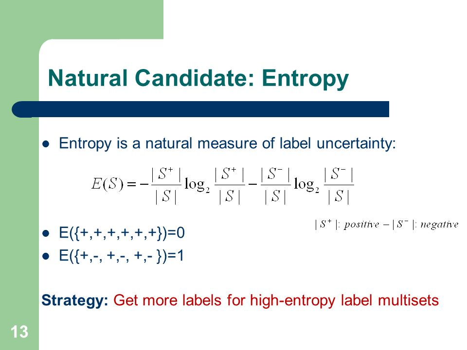Natural Candidate: Entropy