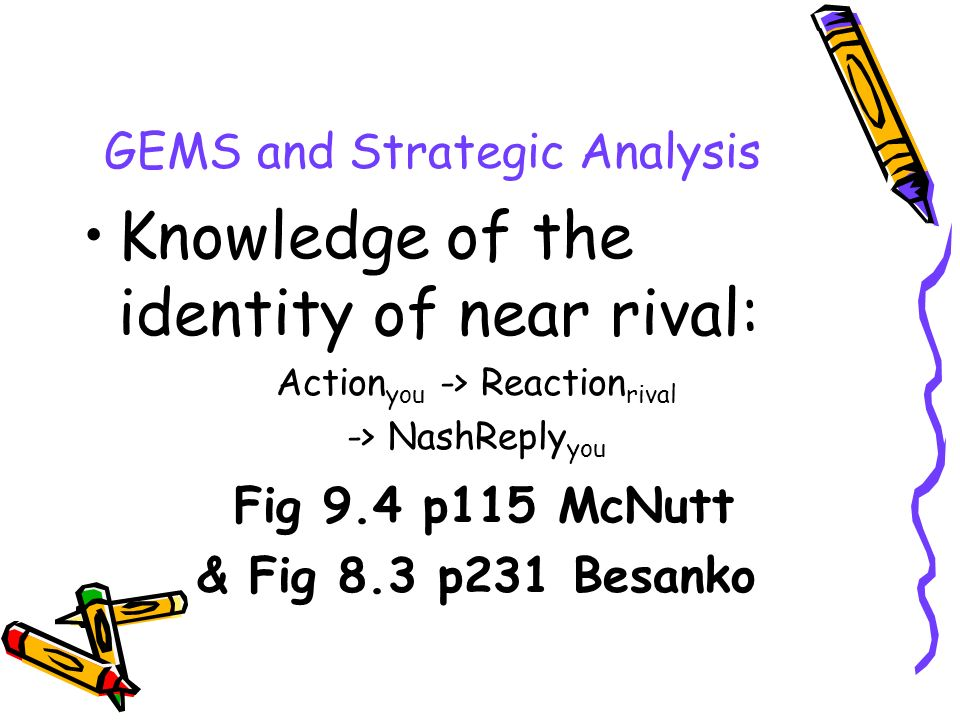 GEMS and Strategic Analysis